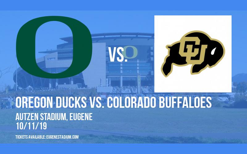 Oregon Ducks vs. Colorado Buffaloes at Autzen Stadium