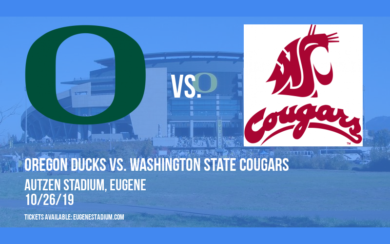 Oregon Ducks vs. Washington State Cougars at Autzen Stadium