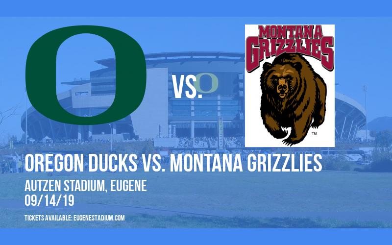 Oregon Ducks vs. Montana Grizzlies at Autzen Stadium