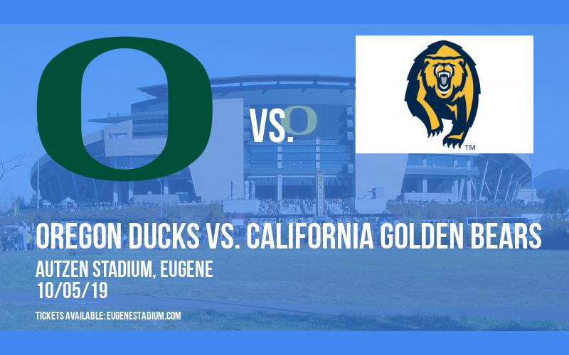 Oregon Ducks vs. California Golden Bears at Autzen Stadium