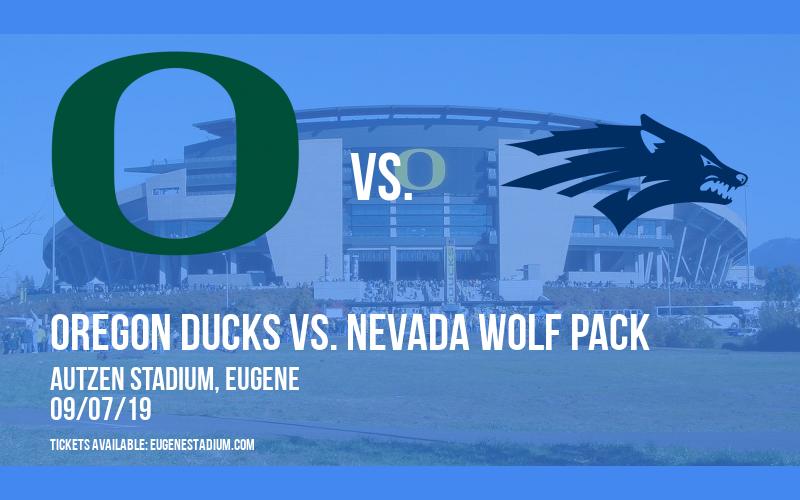 Oregon Ducks vs. Nevada Wolf Pack at Autzen Stadium